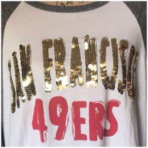 NFL Tops - SAN FRANCISCO  49rs NFL Oversized Team Shirt NWT🏈